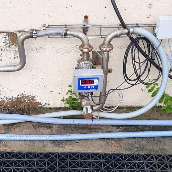 Installation réfractomètre CM800α sur effluent